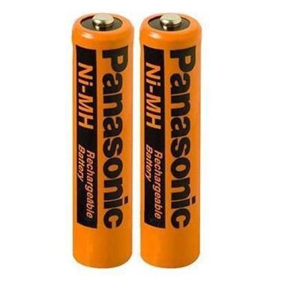 تصویر باتری کارتی نیم قلم شارژی Panasonic  750mah (مخصوص تلفن بی سیم)