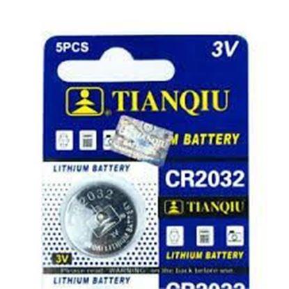 تصویر 1 ورق 5 عددی باتری سکه ای Tianqiu  2032
