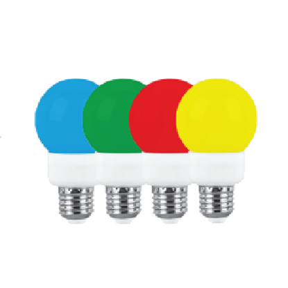 تصویر لامپ ال ای دی 1 وات پارس شعاع زرد E27