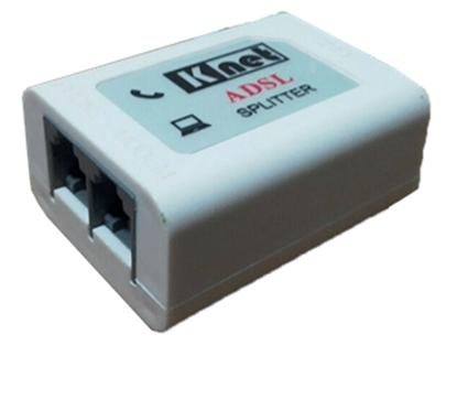 تصویر اسپلیتر مودم به همراه کابل تلفن ADSL Knet K-N1115
