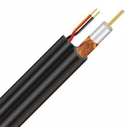 تصویر کابل کواکسیال با برق و تصویر تمام مس CCTV+POWER 200M