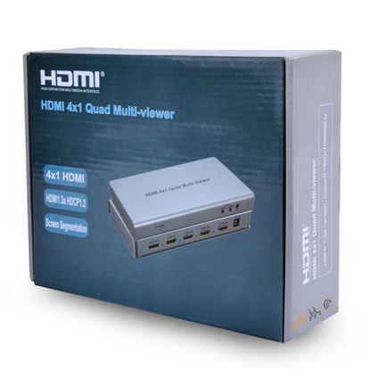 تصویر ارسال همزمان 4 تصویر به 1 مانیتور Knet Plus  Hdmi