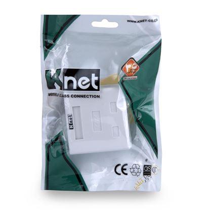 تصویر کیستون باکس شبکه 2 پورت K-net  K-N1108 Cat 6 UTP