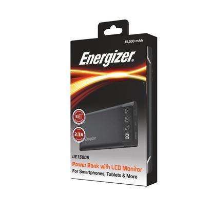 تصویر پاور بانک LCD دار Energizer UE15006  15000mah