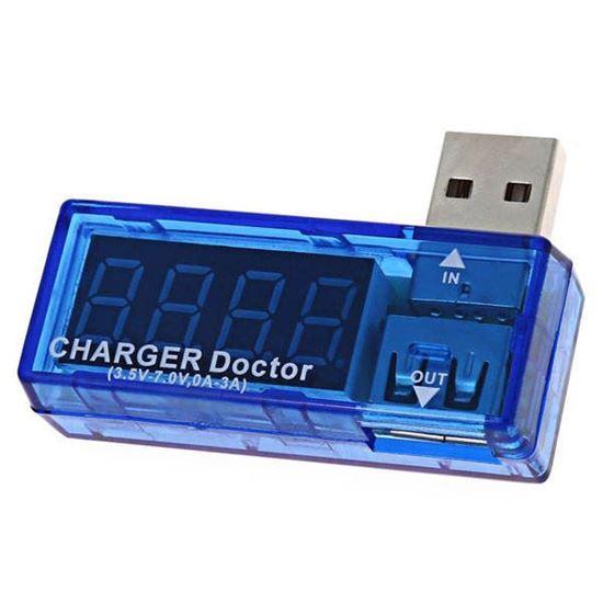 تصویر تستر درگاه USB و شارژ موبایل مدل T12