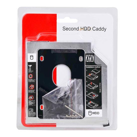 تصویر باكس هارد 2.5 اينچی  Caddy 12.7mm USB2.0