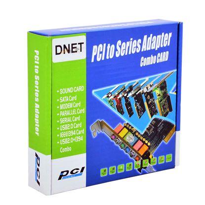 تصویر کارت D-NET PCI USB2.0 4 PORT