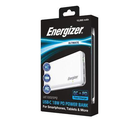 تصویر پاور بانک فست Energizer UE10025PQ 10000mah