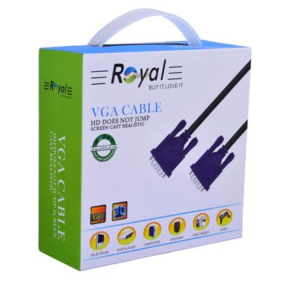 تصویر کابل Vga  Royal    10m  پک دار