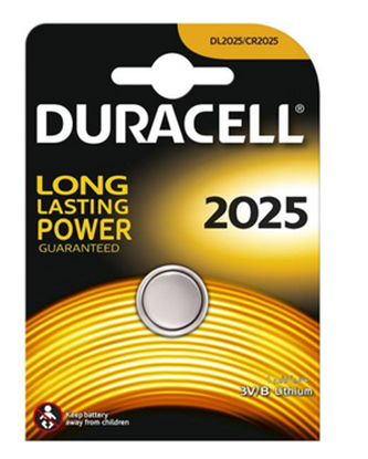 تصویر باتری سکه ای  2025 لیتیوم Duracell