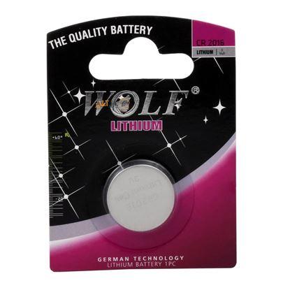 تصویر باتری سکه ای لیتیومی  2016 Wolf