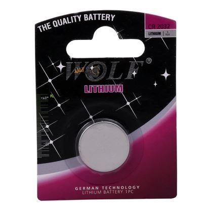 تصویر باتری سکه ای لیتیومی  2032 Wolf