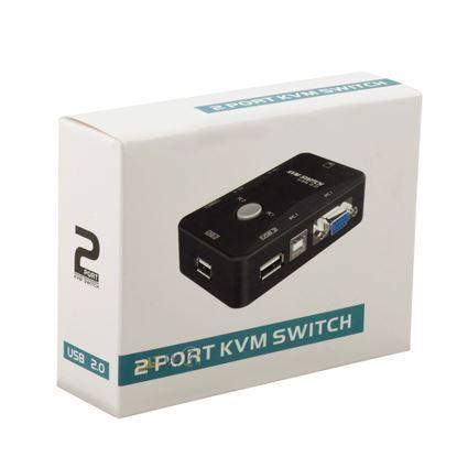 تصویر Kvm دستی دو پورت  D-net USB2