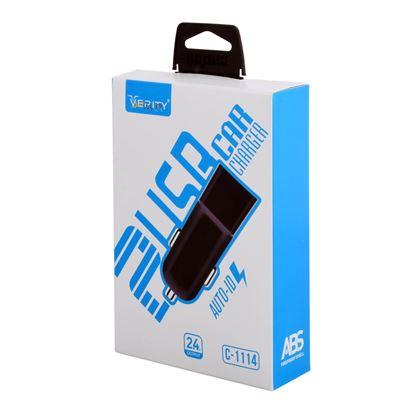 تصویر شارژر فندکی Verity مدل C1114 به همراه کابل تبدیل microUSB