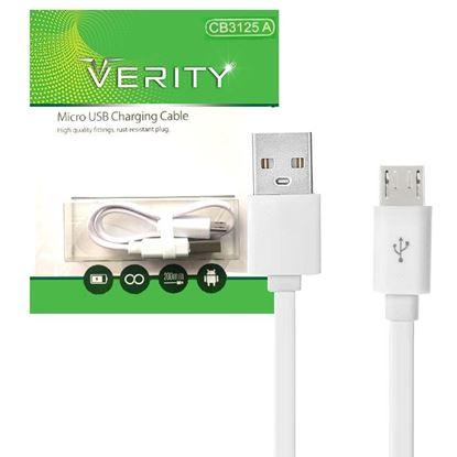تصویر کابل Verity MicroUSB پاوربانکی مدل CB3125